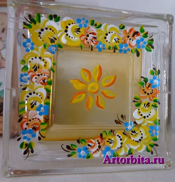 Ароматизатор воздуха - роспись по стеклу