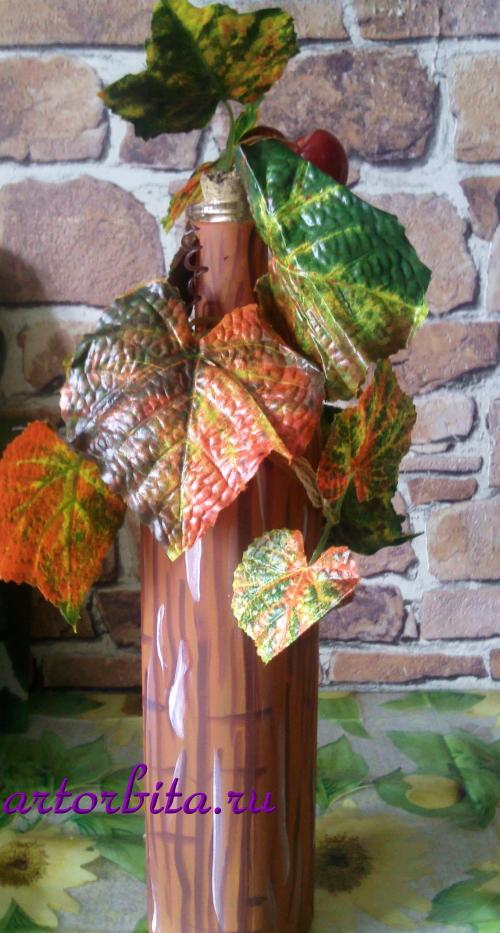 Бутылка, другой вид - декорирование