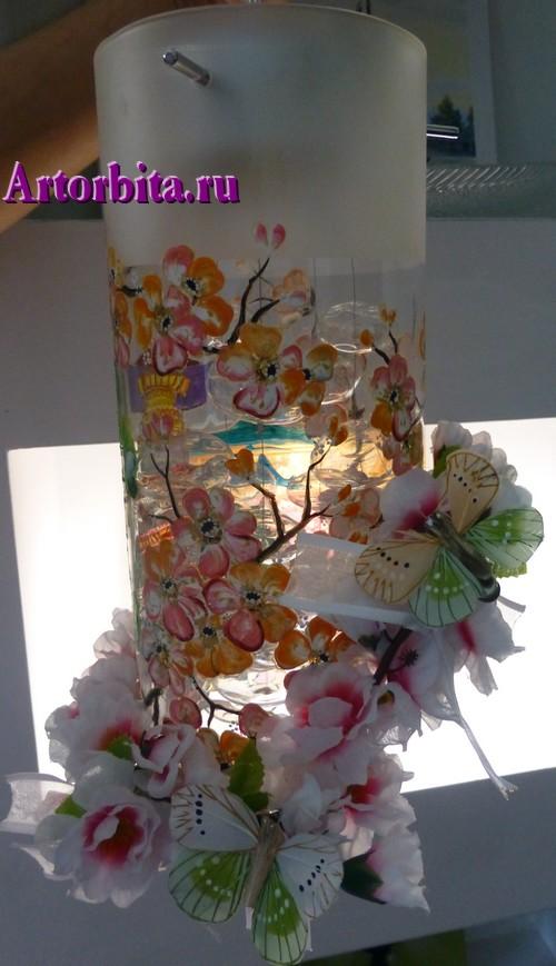 Светильник в китайском стиле - вид 1 - роспись по стеклу