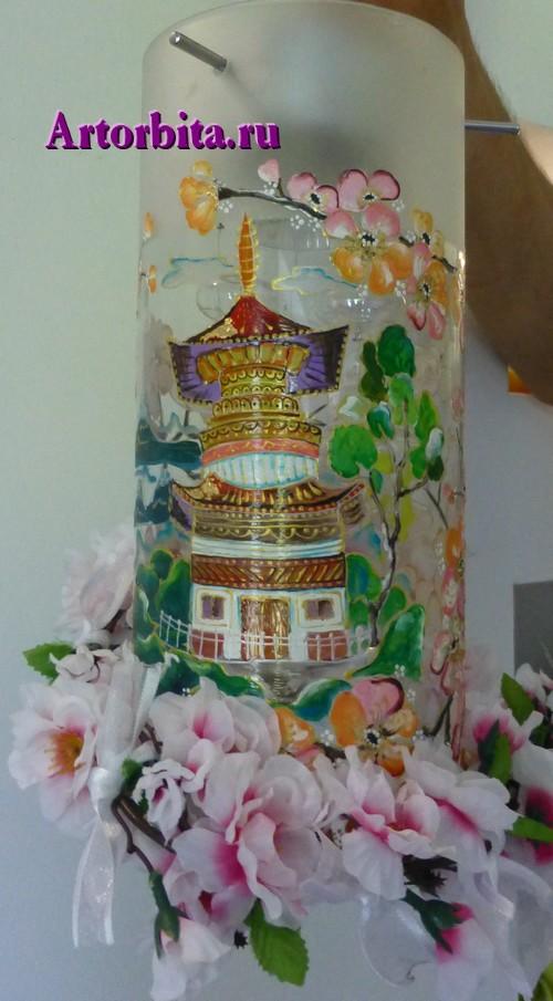 Светильник в китайском стиле - вид 3 - роспись по стеклу