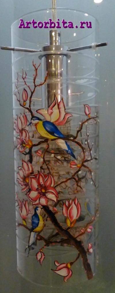 Плафон 2 - вид 2 - роспись по стеклу
