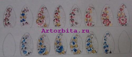 Рисунок 5. Роспись ногтей