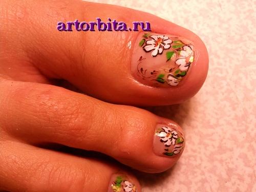Рисунок 3. Роспись ногтей