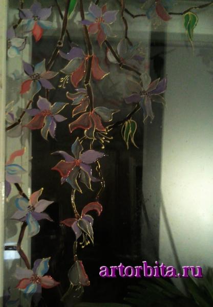 Окно - роспись по стеклу