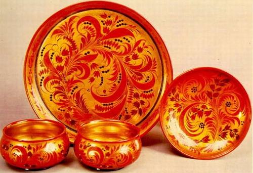 Художественная роспись хохломская роспись