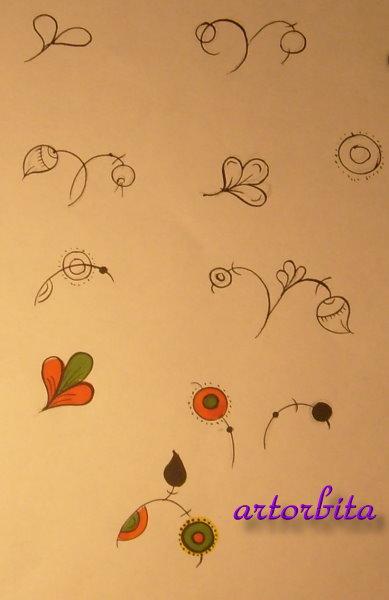 Растительные мотивы - рисунок ...: artorbita.ru/tipy_rospisi/permogorskaya/pic8.html