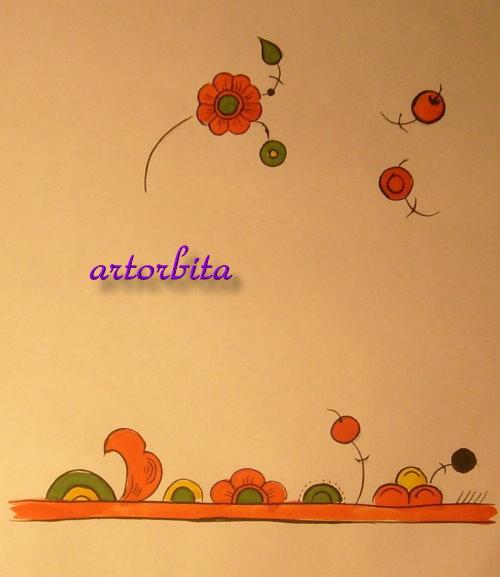 Растительные мотивы {2} - рисунок ...: artorbita.ru/tipy_rospisi/permogorskaya/pic9.html