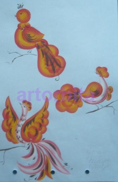 Птицы рисунок урало сибирская